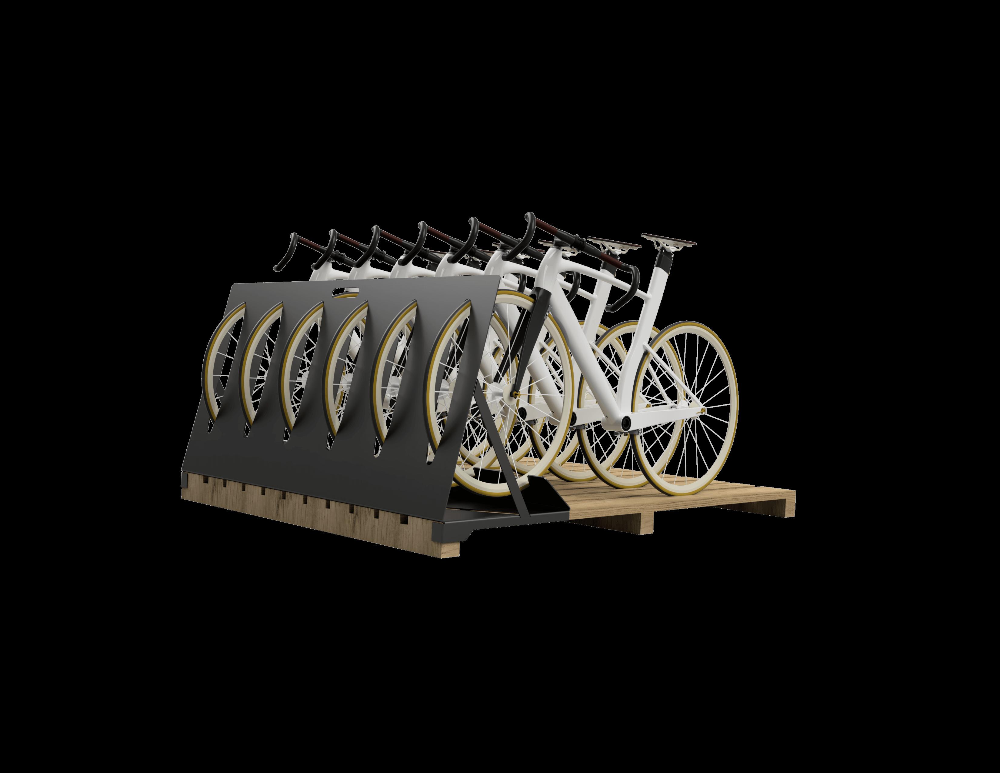 fietsopslag systeem en machine montage